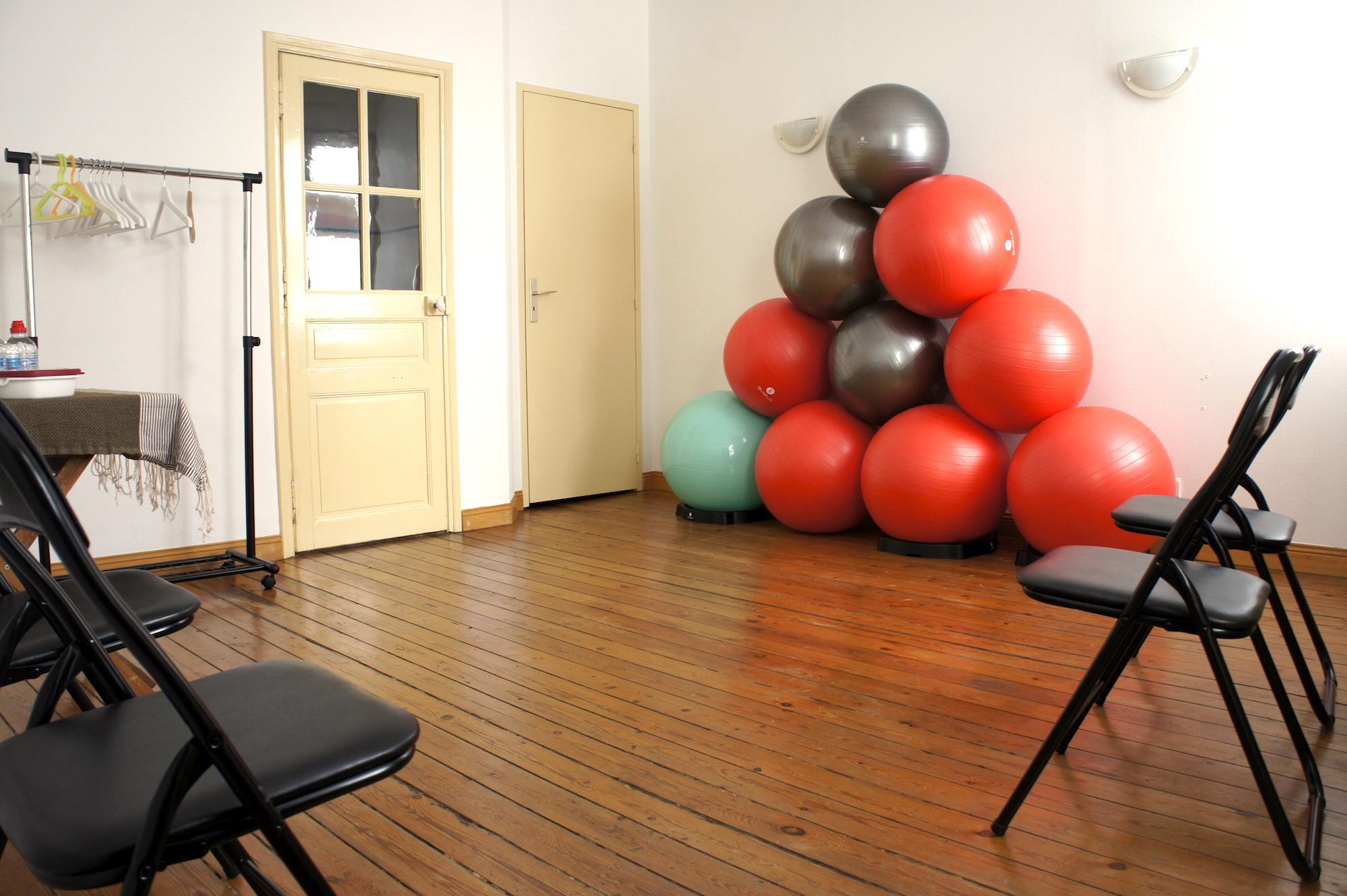 vestiaire cours de pilates